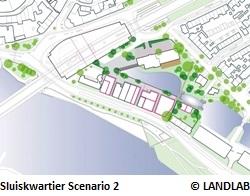 Sluiskwartier Scenario 2 - © LANDLAB